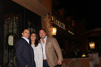 Angelo, Nelli & Steve in front of Osteria